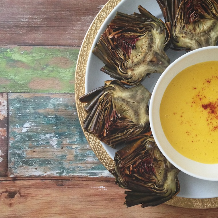 Foap-Roasted_Artichokes_and_Hollandaise_Sauce