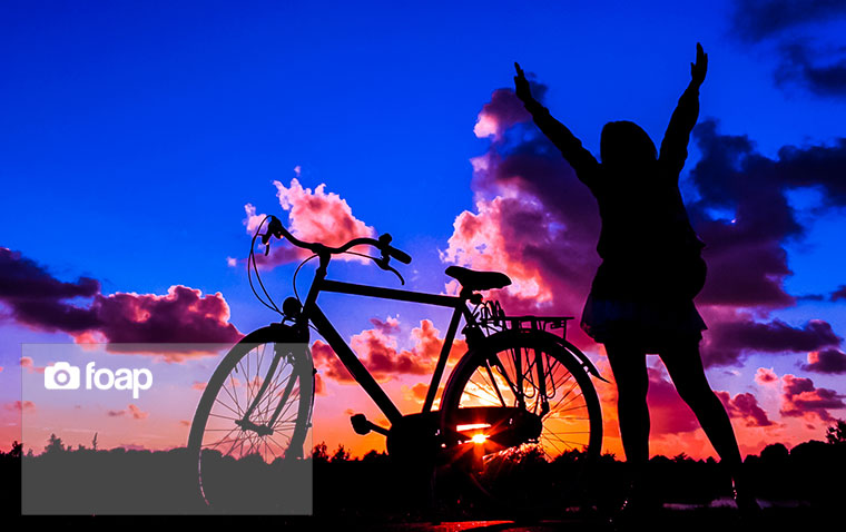 Foap-The_bike_and_I_at_sunset