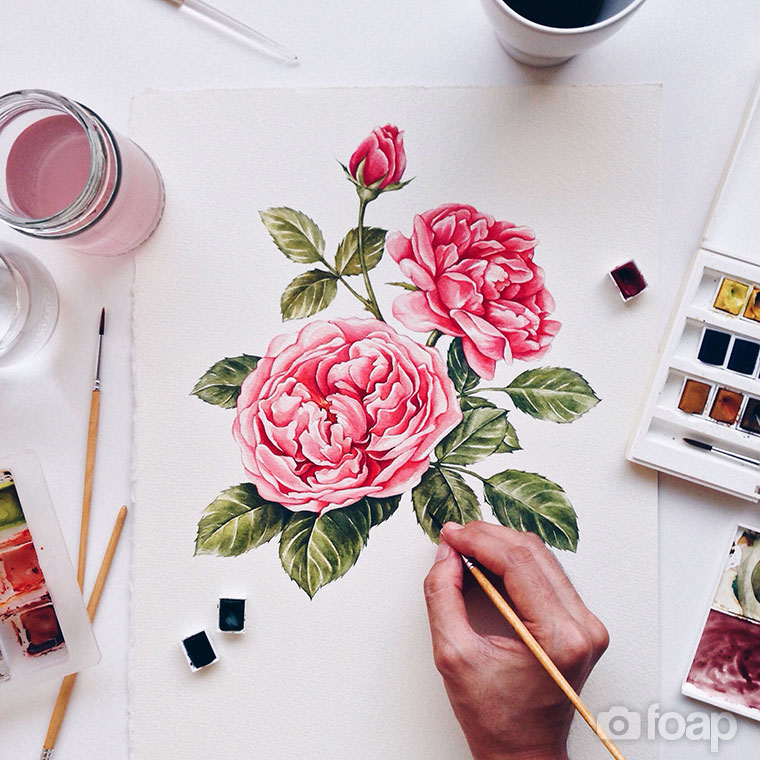 Foap-Roses_watercolor_painting_