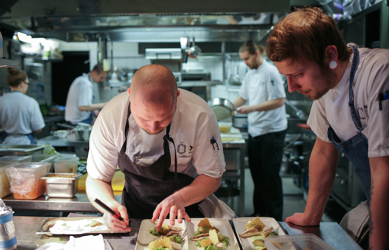 Kitchen professionals in action