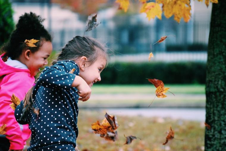 Fall Children Playing