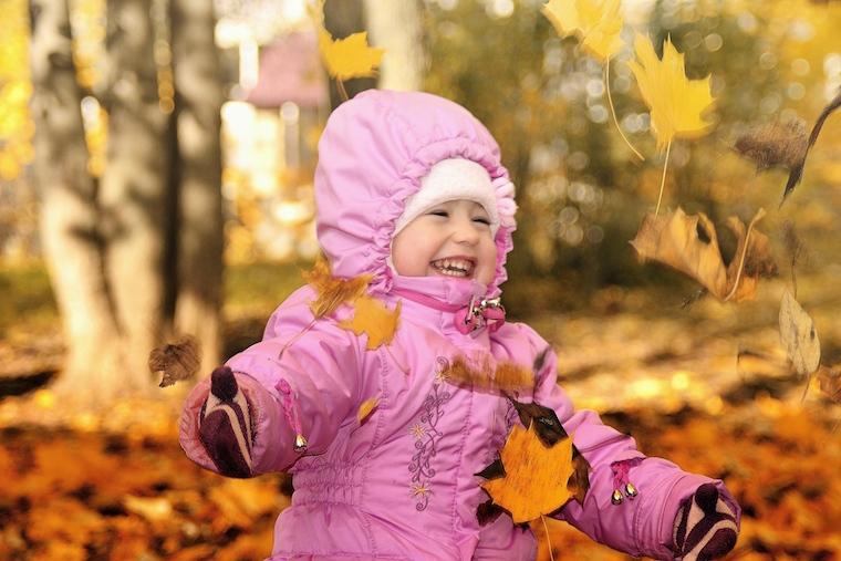 Girl Enjoying Fall