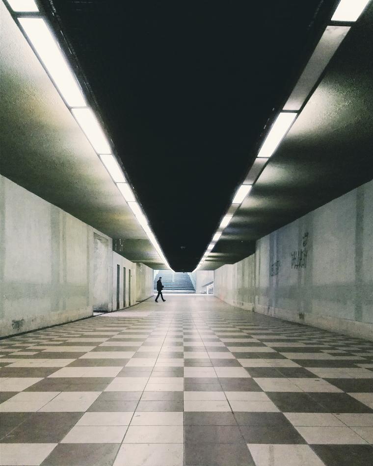 one of Gdansk tunnels
